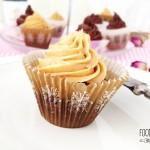 Hříšně čokoládový cupcake s kakaovým a arašídovým krémem