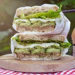 "Zelený ""veggie"" sendvič z M&S potravin"