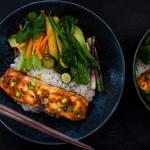 """""""Lochmuir"""" losos teriyaki se zeleninou a jasmínovou rýží z M&S potravin"""
