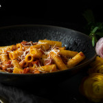Rigatoni all'amatriciana z M&S potravin