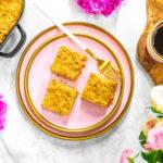 Litý kynutý rebarborový koláč s drobenkou