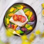 Treska se zeleninou a pomerančovou zálivkou