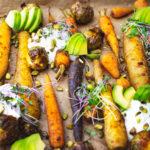 Pečené mrkvičky s avokádem